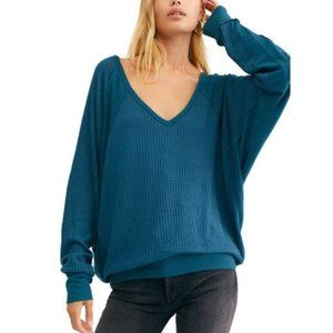 Free People Santa Clara Thermal Top Teal M